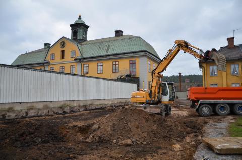 Här byggs den nya restaurangen vid Falu Gruva