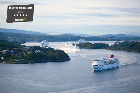 ​Fred. Olsen Cruise Lines is proud to be recognised as a Feefo 'Gold Trusted Merchant', for the third year in a row