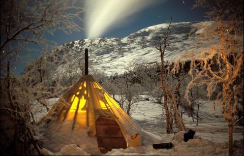 Лавву - традиционное жилище саамов