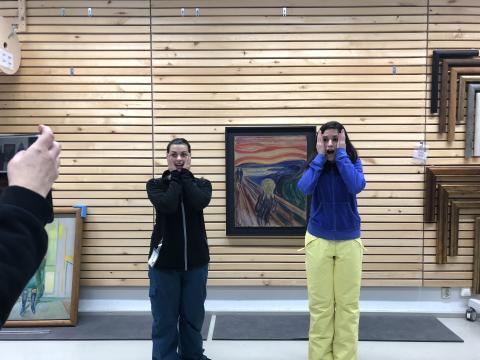 Изабелла и Вася в Музее Мунка