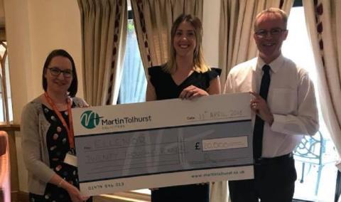 Martin Tolhurst Solicitors raises £20,000 for ellenor