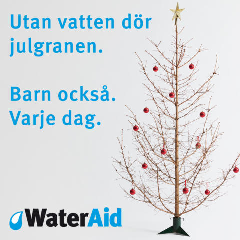 Rent vatten i julklapp räddar barns liv
