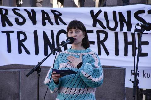 Forsvar kunstnerisk ytringsfrihet – solidaritet med kunstnerne