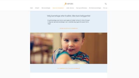 Kanvas' nettside - søke barnehageplass