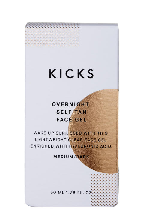 KICKS Overnight Self Tan Face Gel MediumDark closed