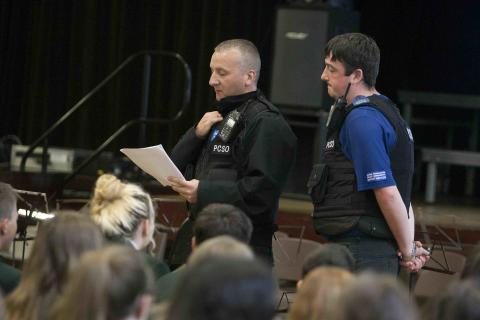 Pupils learn about hate crime