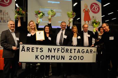 Enköping fick priset som Årets nyföretagarkommun 2010