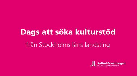 Dags för kulturorganisationer att söka landstingets verksamhetsstöd för 2018