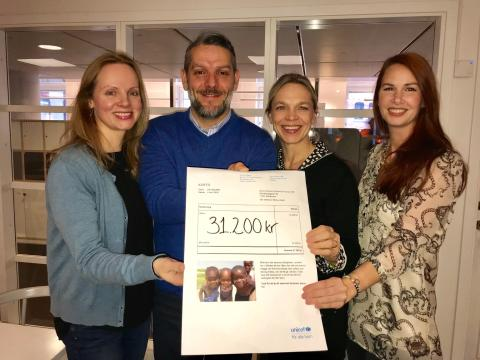 EnterCard charity auction brought 31 200 SEK to UNICEF