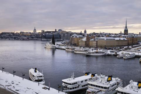 Grand Hôtel utsikt vinter