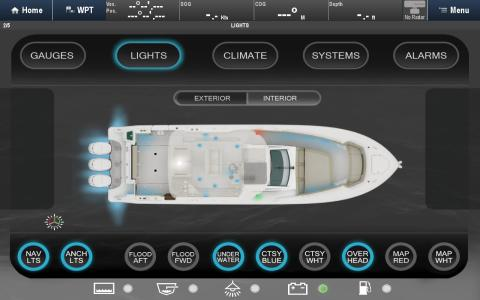 High res image - Raymarine - Digital switching layout on powerboat