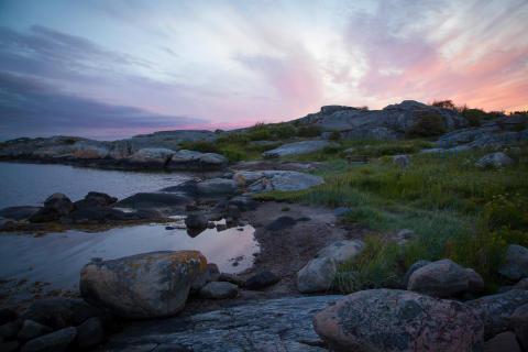 Solnedgang i sensommeren, Styrsö
