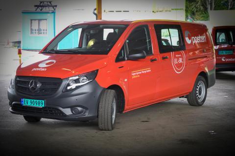 Her er Postens nye type el-varebil