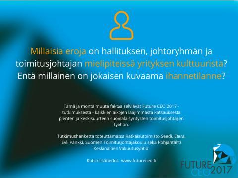 Future CEO 2017 -tutkimus: Millainen on pk-yrityksen toimitusjohtaja?
