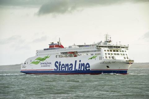 She's here!!! Stena Estrid arrives in Holyhead