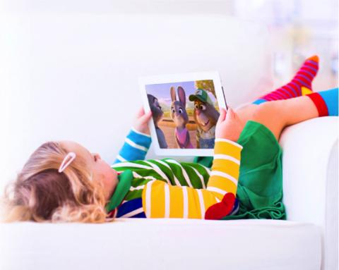 Half of kids use second screens while watching TV