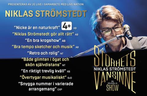 """Publiksuccé för Niklas Strömstedts Storhetsvansinne, nu släpps 10 extra föreställningar med Niklas Strömstedt """"Storhetsvansinne"""" på Hamburgerbörs"""