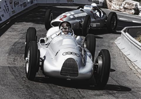 Auto Union Type D i aktion til Goodwood Festival of Speed