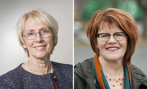 Förtjänstmedalj till Lena Gustafsson och Britta Lundgren