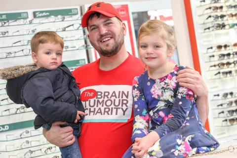 Northwich man helps local optician celebrate relaunch after team spotted life-threatening brain tumour
