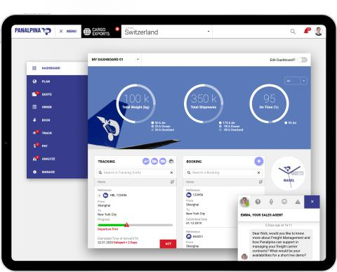 New Panalpina customer portal: bringing the future of digital supply chain management to transport logistic in Munich