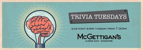 McGettigan's Clarke Quay introduces Trivia Tuesday Quiz Night