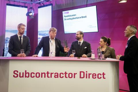 Valutafrågan är den största oron för de svenska företagen vad gäller Brexit, menade panelen under Subcontractor Direct under tisdagen.