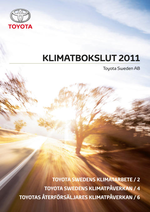Toyota i Sverige redovisar nytt klimatbokslut