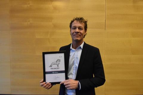Søren Nybroe, MAN Aarhus, blev kåret som årets MAN løve for sin særlige indsats og for på bedste vis at udleve MANs kerneværdier