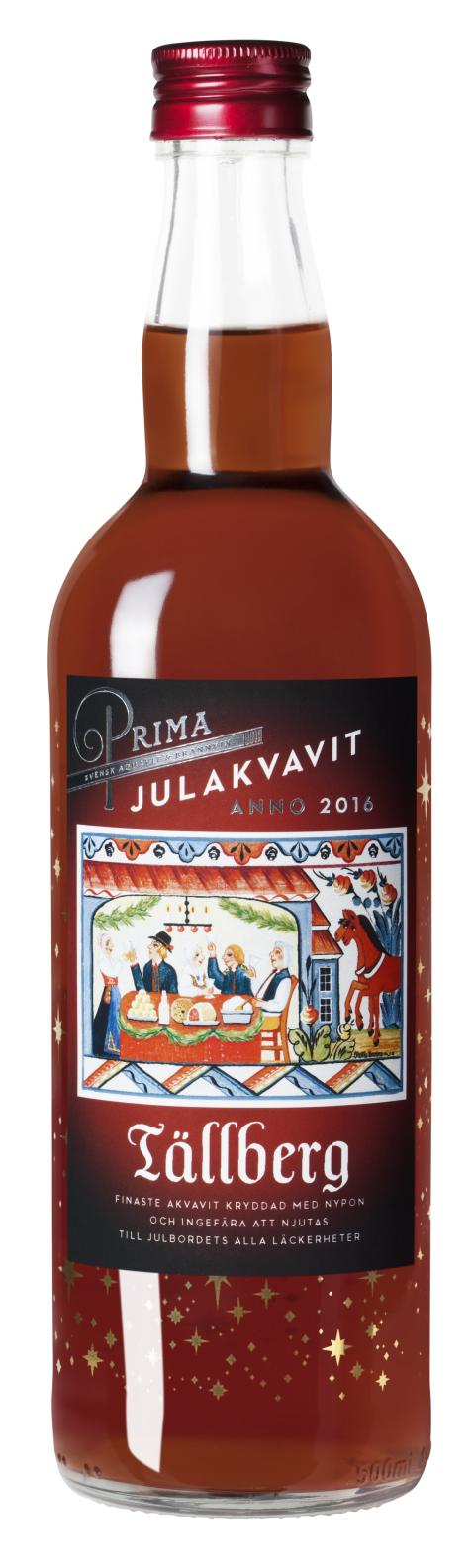 Prima Julakvavit Tällberg 2016, flaskbild