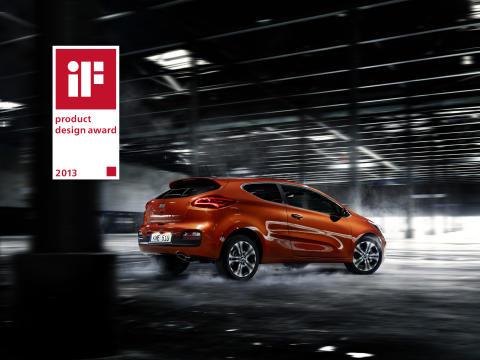 iF prestigefyllda designpris till nya Kia pro_cee'd