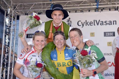 De tre bästa damerna i Cykelvasan 2015