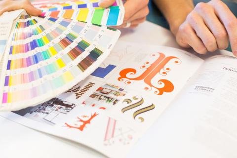 Förpackningsdesigner - färger