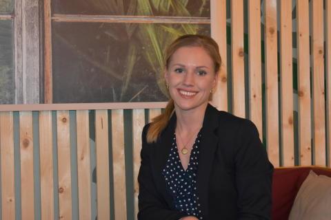 Hvordan kommunisere bærekraftige kvaliteter overfor boligkjøpere? Her: Mastergradsstudent, Anne Hæhre.