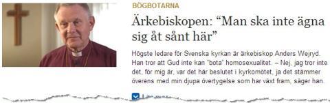 Svenska kyrkan värnar homosexuellas rättigheter