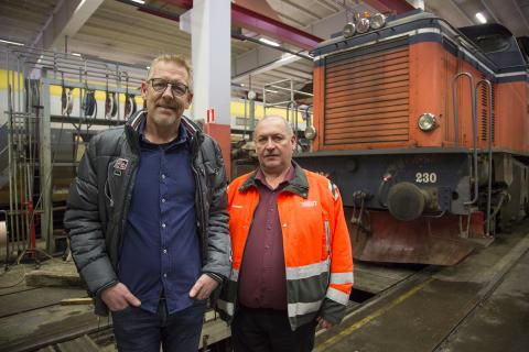 Anders Löfgren och Lennart Eliasson från Svensk Tågtrafik