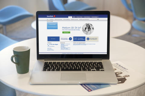 Hjemmesiden til SpareBank 1