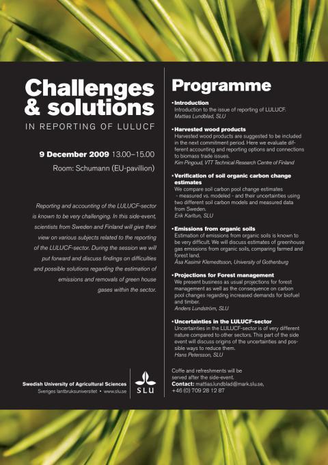 SLU:s EU side event COP 15