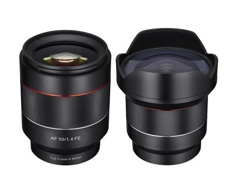 Samyang 14 & 50mm for Sony E, fullformat med autofokus