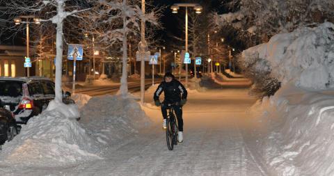 Arvidsjaur i topp när det gäller att satsa på gång- och cykelvägar