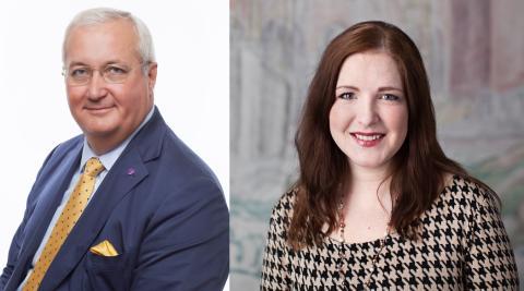 Sten Nordin och Regina Kevius (M) presenterar Stockholms stads nya stadsbyggnadsdirektör