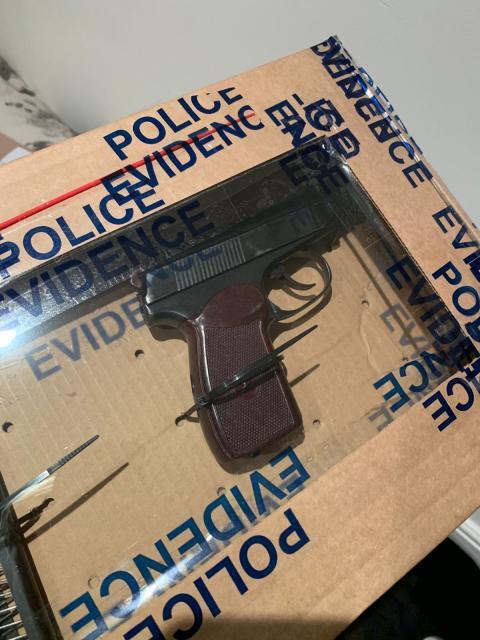 Handgun recovered