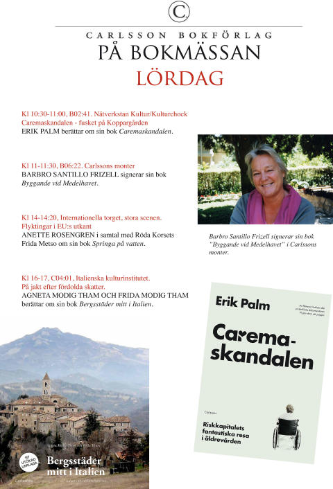 Bokmässan lördag Carlsson Bokförlag