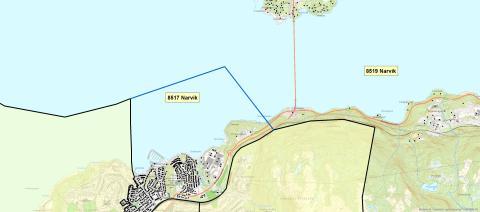 8517 Narvik - postnummerinndeling