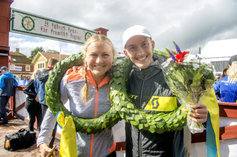 Elov Olsson and Ida Nilsson won Ultravasan 90 2017