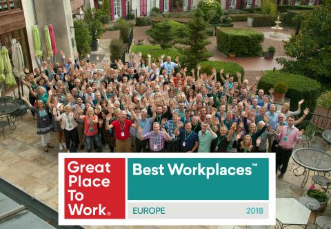 Frontit är en av Europas Bästa Arbetsplatser 2018