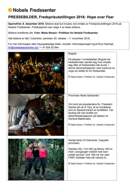 Pressebilder - Fredsprisutstillingen 2016