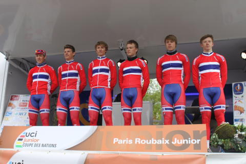 Juniorlandslaget på landevei til Trophee Centre Morbihan