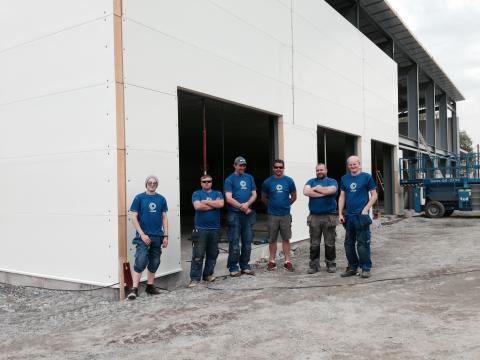 Byggingen godt i gang på Spydeberg Næringssenter