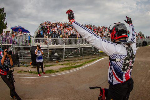 Liam Philips, World Cup-segrare på Sibirien BMX Arena i Ängelholm